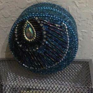 Jewelry - Turquoise peacock trinket tin